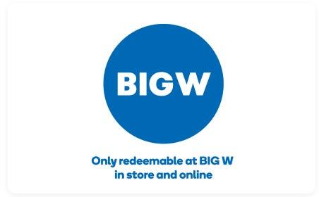 BIG W gift card