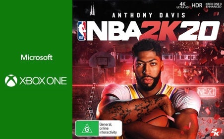 Xbox One NBA 2K20: 75,000 VC gift card